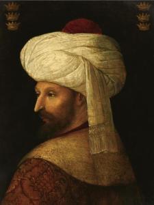 Il Sultano Mehmet II detto il conquistatore.