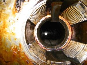 Il foro d'inserimento dell'otturatore del cannone.