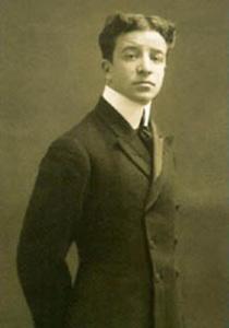 """Aldo Palazzeschi, autore della poesia """"I fiori""""."""