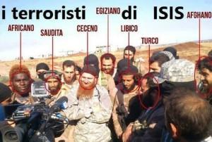 I membri dell'Isis sono di varie provenienze.