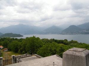 Vista del lago di Como da Forte Montecchio Nord.