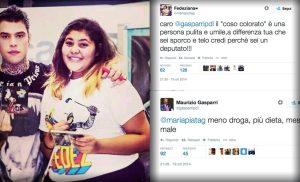 Lo scambio di tweet tra Maria Pia, fan di Fedez e Gasparri.