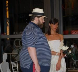 Foto di nozze di Mario Adinolfi.